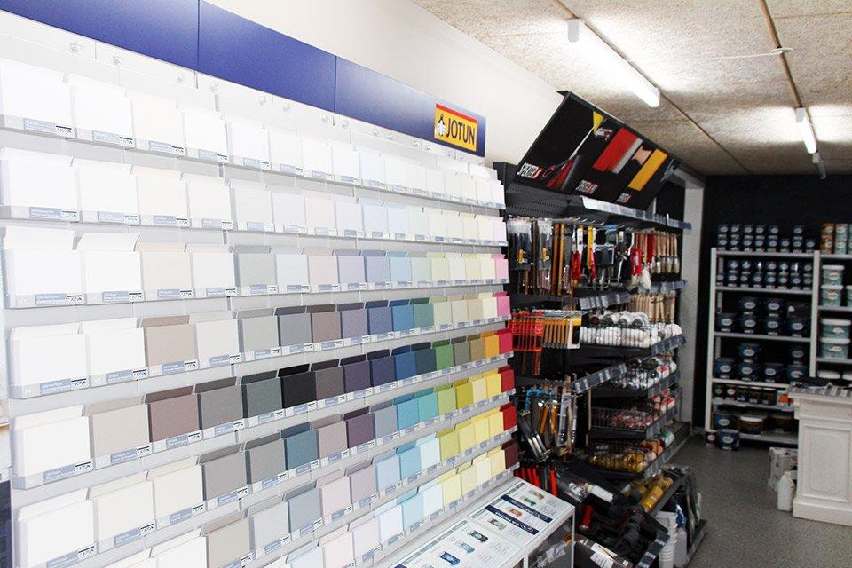 Farvepalette til valg af farven på maling