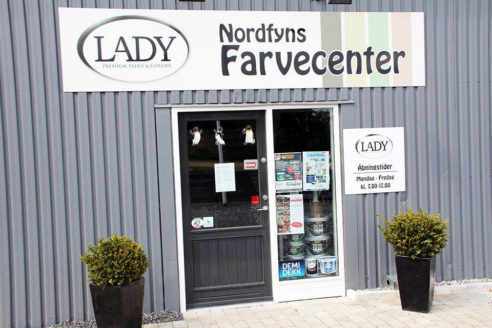 Indgang til Nordfyns Farvecenter